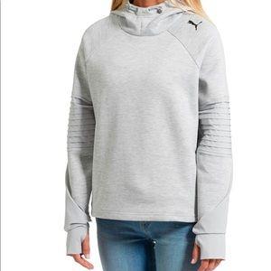 Puma Evostripe Pullover Hoodie Gray Womens L